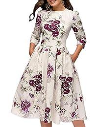 586f64cfeb16 JOJJJOJ Abito da Donna Vintage Anni  50 con Abiti da Cocktail