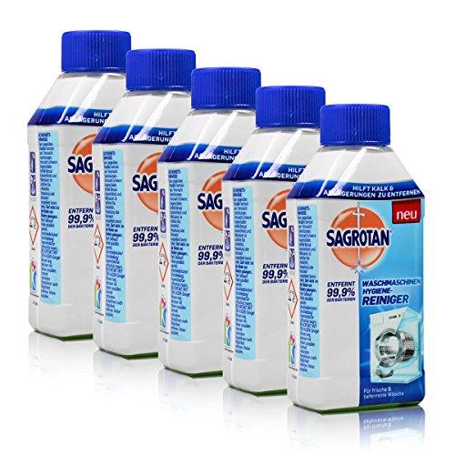 5 x Sagrotan Waschmaschinen Hygiene-Reiniger 250ml