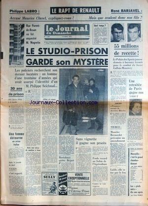 JOURNAL DU DIMANCHE (LE) [No 1320] du 12/03/1972
