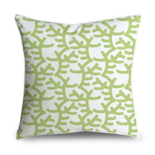 fabricmcc Coral Baum in Weiß Quadratisch Accent dekorativer Überwurf-Kissenbezug 18x 18