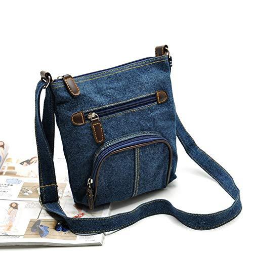 YEARJINGHAO Frauen Umhängetasche Blue Denim Schultertasche Frauen Handtasche - Frauen Blue Denim