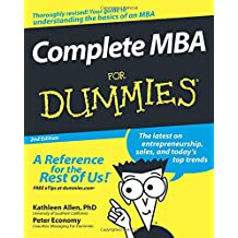 Complete MBA For Dummies 2e