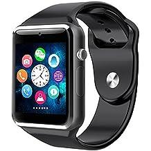 Smartwatch A1 de Pandaoo, con Bluetooth, podómetro de salud, monitor de sueño,
