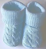 Newborn Baby Girls Boys Cable Knit Booties Socks