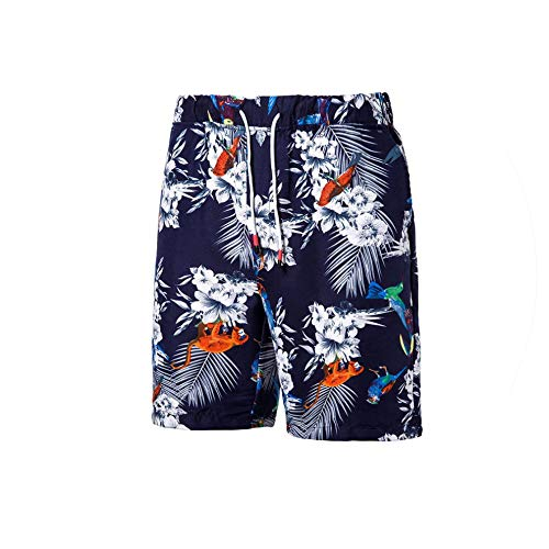 Hot Men's Print Board Shorts Quick Dry Beach Shorts Surfing Beach Wear Floral Short Men Boardshorts,Navy blue-k18,XXL Old Navy Floral Romper