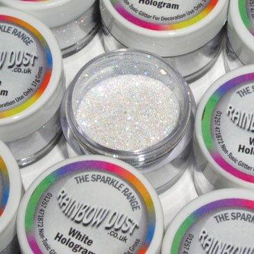 Rainbow Dust Non-Toxic Kuchen Glitzern Glanz Dekoration Hologram Weiss