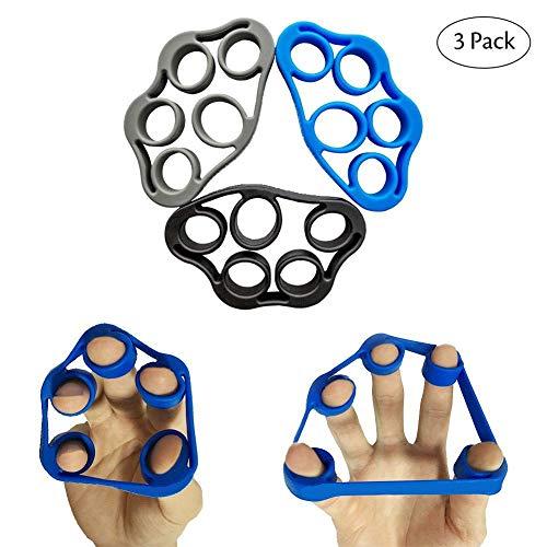 3pcs Fingertrainer Klettern Handtrainer Set, Minn Hand Grip Trainer Finger Stretcher Silikon zur Stärkung der Finger