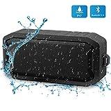 Bluetooth Lautsprecher Wasserdicht, Portable Bluetooth Speaker, 8h Spielzeit und TF Card AUX Input Outdoor Tragbarer Lautsprecher und Ingebauten Mikrofons-Grau