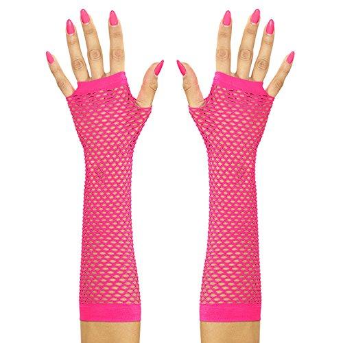 Widmann 14745 Handschuhe, neon pink, One Size (Handschuh Hut Rosa)
