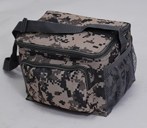 ACU Print Digital Camouflage Deluxe Insulated 6 Packs Cooler Lunch Bag by Proximelle