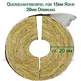 Rockwool 800 15/30 Rohrisolierung, für 15mm Rohr, 30mm Dämmung, 1m