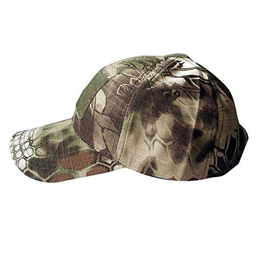 Aiyuda da uomo Outdoor tattico militare mimetico Cappellino con Visiera Regolabile con velcro chiusura Berretto da baseball in cotone, Madrake Woodland Camo, Taglia unica