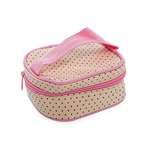 Multifunktional Dot Windel Wickeltasche Mama Handtasche Windel Pad Fläschchen Halterung Food Bag für Baby-5x rose