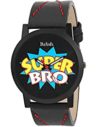 RELISH RE-S8086BB Black Slim Analog Watch For Boys And Mens