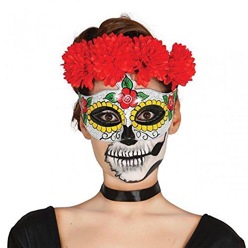 Kostüm De Muertos Los Frau Dia (Fiestas Guirca GUI12907 - Gesichtsmaske