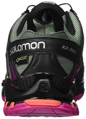 Salomon Xa Pro 3d Gtx, Zapatillas De Running Para Mujer Grey (light Titan / Black / Coral Punch)