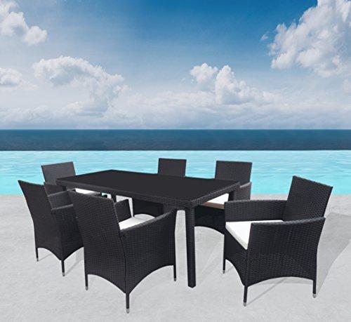 Outdoor Sitzgruppe 'Milano' Lounge Schwarz Gartenset Sofa Garnitur Polyrattan Gartenmöbel Poly Rattan 13 tlg.