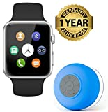 #10: Premium Design A1 Gold Smart watch with camera, Sim Card Slot & Water Proof Bluetooth Shower Speaker With Mic,(Multi colors )