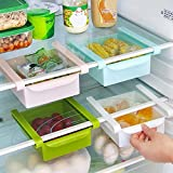 #8: Saimani Refrigerator Plastic Multi Purpose Storage Fridge Racks Tray Selves Shelf (Set of 4)(Multi-Color)