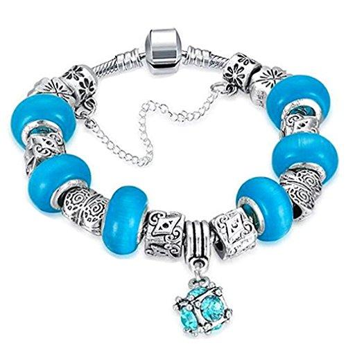gyjun Armbändern und Armreifen Charm/des Filament Legierung/Acryl/Silber/Mode/Adorable, hellblau-L (Tous Armband Perle)