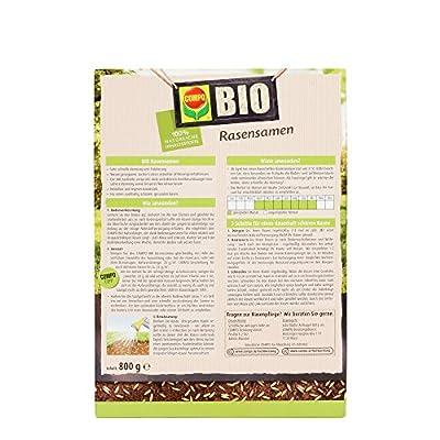 COMPO BIO Rasensamen, Zertifiziert nach EG-Öko-Verordnung, 800 g von Compo - Du und dein Garten