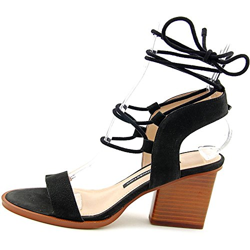 French Connection Jalena Cuir Sandales Black-Black