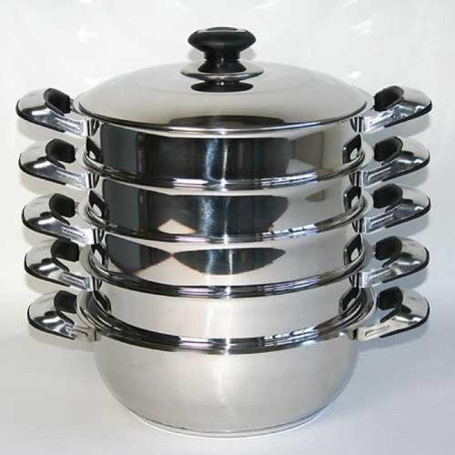 Mantowarka Juego de cacerolas para cocinas al vapor con fondo de inducción Ø26cm width=