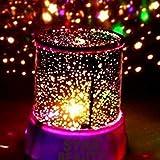 Lispeed Sternenhimmel Projektor, LED Nachtlicht Sternenprojektor 360° Rotierend Projektionslampe Romantische Sternenhimmel LED Projektor Perfekt für Wanddeko fürs Kinderzimmer Parteien Weihnachten