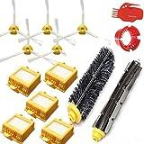 LOVE(TM)Accesorios para iRobot Roomba Serie vacío Kit de sustitución de piezas de limpiador 700 760 770 780 790 - Incluye 5 Filtros Pack, 5 cepillos laterales y 1 paquete de cepillo de cerda y flexible batidor cepillo, 1 herramienta de limpieza Paquete