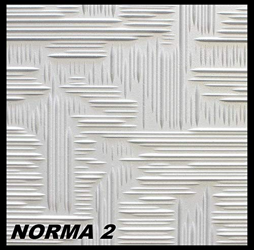 1 m² Deckenplatten Polystyrolplatten Stuck Decke Dekor Platten 50x50cm, NORMA 2 (Ware Jessica)