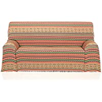 Cardenal Textil Azteca Foulard Multiusos, Naranja, 180x290 cm