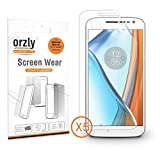 Orzly® - 5x Films de Protection Haute Qualité pour MOTO G4 SmartPhone / Téléphone Mobile (2016 Motorola / Lenovo Modèle) - 100% Transparent Virtuellement Invisible