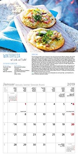 51xF4I1gwdL - Genussvoll Grillen (BK) 228119 2019: Broschürenkalender mit Ferienterminen. Jeden Monat ein neues Rezept für dwn Grill. Format: 30 x 30 cm