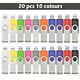 AreTop 20pcs 1GB USB Flash Drives 10 Colors