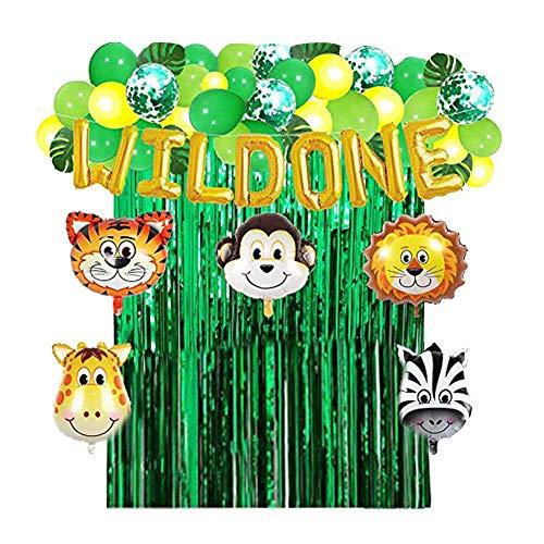 st Hawaiian Party Decor Künstliche Palmen Dschungel Thema Party Supplies Dinosaurier Blätter Ballons Latex Ballons Banner Pack für Birthday Party Supplies ()