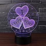3D Optische Illusions-Lampen NHsunray LED 7 Farben Touch-Schalter Ändern Nachtlicht Für Schlafzimmer Home Decoration Hochzeit Geburtstag Weihnachten Valentine Geschenk Romantische