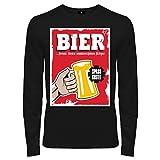 Spaß kostet Männer und Herren Langarmshirt Männertag Bier Formte Diesen schönen Körper