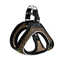 HUNTER HILO COMFORT harness for small dogs, with mesh material and reflective elements,brown,XXS-XS