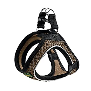 HUNTER Harness Hilo Comfort XXL mesh, brown with refl. bise