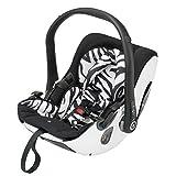 Kiddy 41900EV600 Evolution Pro Babyschale, patentierte KLF-Liegefunktion, Gruppe 0+ (0-13 kg, Geburt-ca. 15 Monate), Zebra (weiß-schwarz)