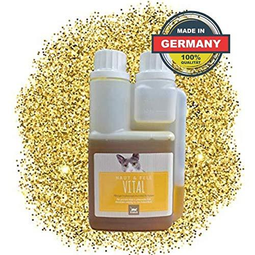 EMMA Aceite de linaza y Aceite de cártamo más Vitamina E I Aceite de Alimentos prensado en frío I Ácidos grasos insaturados (Omega 3 6) I Aceite de vómito I para Gatos I Piel y Pelo Vital 250 ml