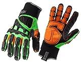 Proflex 925FX - Guanti antivibrazione con protezione per dorso della mano, taglia media
