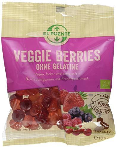 """El Puente """"Veggie Berries"""" Fruchtgummi mit Pektin, ohne Gelatine, 10er Pack (10 x 100 g)"""