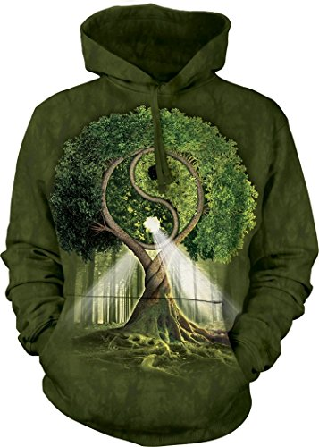 Yin Yang Grün T-shirt (The Mountain Yin Yang Tree Kapuzenpullover - Grün - Mittel)