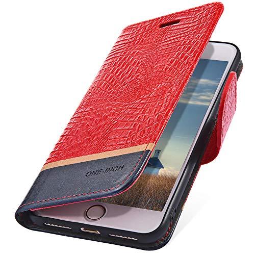 MoreChioce Coque Galaxy J5 2016,Coque en Cuir pour Galaxy J5 2016, Élégant Crocodile Rouge Relief Housse à Rabat Étui de Protection Portefeuille à Magnétique Compatible pour Samsung Galaxy J5 2016