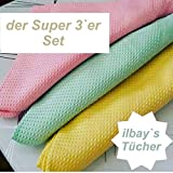 Ilbay`s ilbays Putztücher Microfaser Tücher Bezleri 3`er Pack