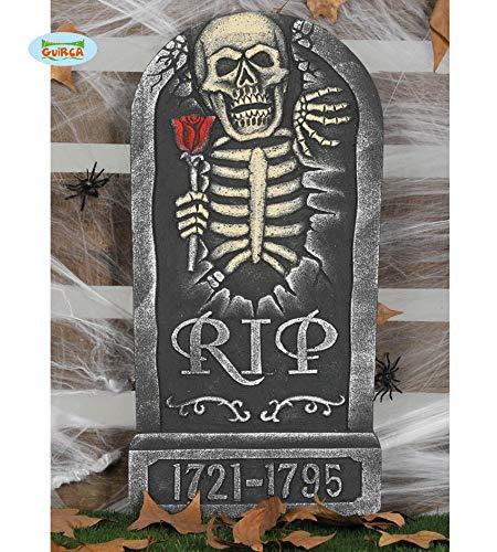 Guirca Grabstein R.I.P. Halloween Horror Party Dekoration Deko Tot Tod ca. 60 x 33 cm