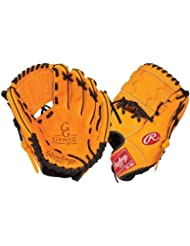 Rawlings Gold Glove Gamer XP 11.25-inch Baseball Glove with 1-piece Solid Web (Black/Orange), Right-Hand Throw by Rawlings
