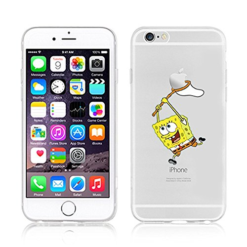 NEW DISNEY CARTOONS TRANSPARENT CLEAR TPU SOFT CASE FOR APPLE IPHONE 8 SUPERMAN SPONGBOB