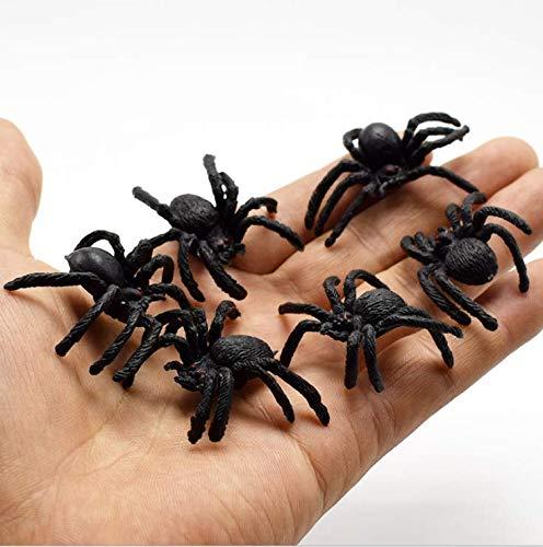 oween Party Requisiten 10 Stück Kunststoff Spinnen Fake Spinnen Witze Requisiten Gummi Spinnen Spinnen ()